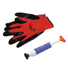 2 Piece Set - Rolson Waste Pipe Blast Unblocker With Rolson Nitrile Coated Work Gloves Large Colour