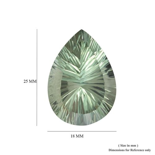 AAA Prasiolite Pear 25x18 Concave 26.70 Cts