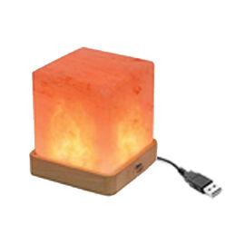 Himalayan Salt USB Lamp Square Shape (Size 9x7 Cm)