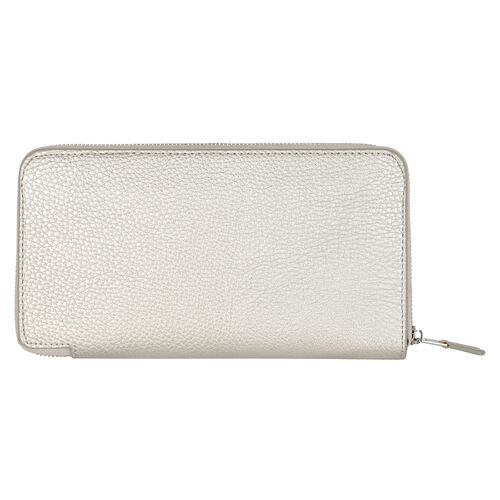 Kris Ana Single Zipper Purse - Silver