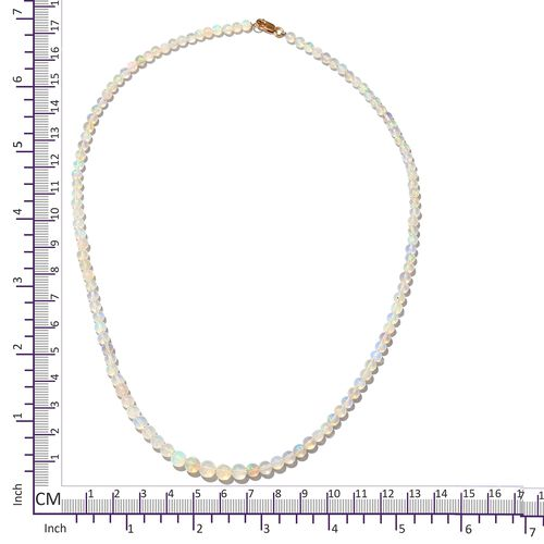 Limited Available Signature Collection - 9K Yellow Gold Ethiopian Welo Opal Graduated Necklace (Size 18) 34.200 Ct.