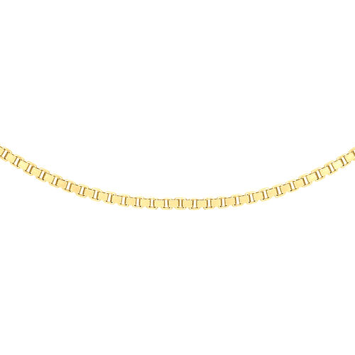 ILIANA 18K Yellow Gold Venetian Box Chain (Size 20)