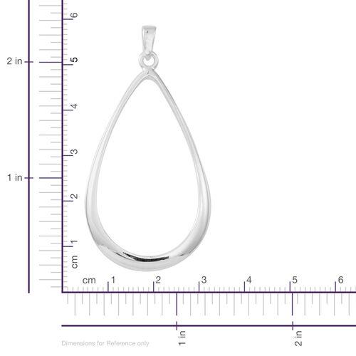 JCK Vegas Collection Designer Inspired Sterling Silver Drop Pendant, Silver wt 7.50 Gms.