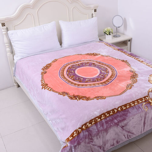 Serenity Night - Supersoft Luxurious and Comfortable 3D Printed Classical Scroll Pattern Double Laye