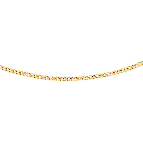 One Time Close Out Deal- 14K Gold Overlay Sterling Silver Curb Necklace (Size 18)
