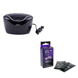 GemOro Sparkle Spa Pro (Black) with GemOro Sparkle Pak Plus (Box of 10)