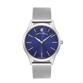 Jacques Du Manoir Emotion Swiss Movement Blue Dial Water Resistant Watch with Milanese Bracelet Stra