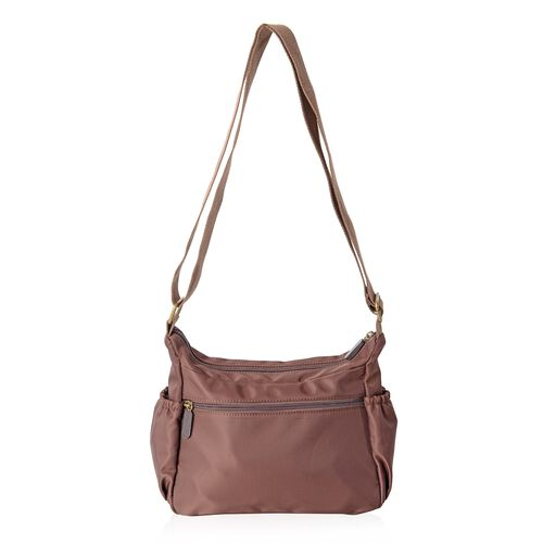 Annabelle Water Resistant Coffee Colour Multi Pocket Cross Body Bag (Size 24x19x9.5 Cm)