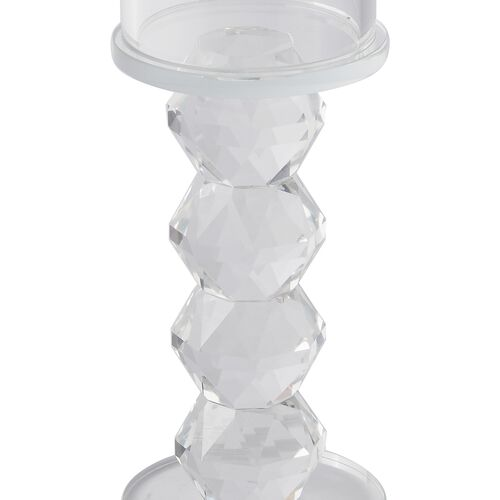 (Option - 1) Premium Collection- Crystal Candle Holder (19.6x6.5 Cm)