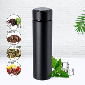 Hot and Cold Flask with Tea Infuser (Size 23x6cm - 500ml) - Black