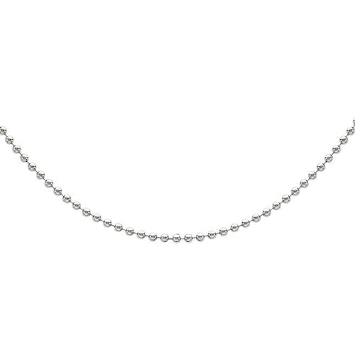 Sterling Silver Ball Bead Chain (Size 30), Silver wt 4.80 Gms