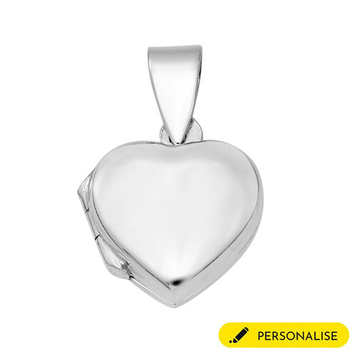 Personalise Engravable Heart Pendant in Silver