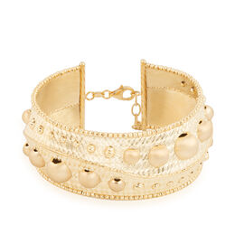 Italian Made-9K Yellow Gold Bangle (Size 7 and 1 inch Extender), Gold wt: 18.85 Gms.