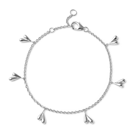 LucyQ Tears Collection - Rhodium Overlay Sterling Silver Bracelet (Size 7/7.5/8)