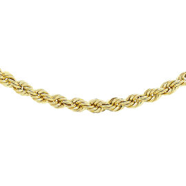 Hatton Garden Close Out Deal 9K Yellow Gold Rope Necklace (Size 24) with Spring Clasp, Gold Wt. 5.30
