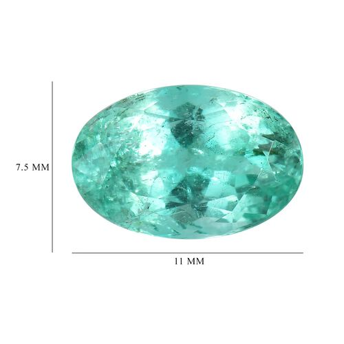 Colombian Emerald Oval 11x7.5 Faceted 1A 3.05 Cts