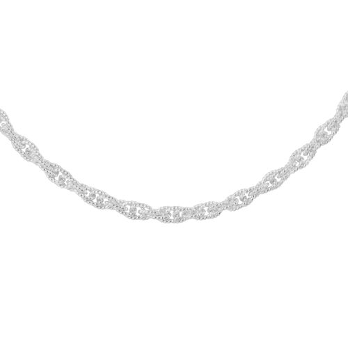 Made in Italy - Sterling Silver Necklace (Size 18), Silver wt 19.29 Gms