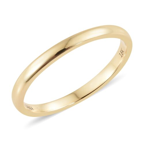 ILIANA 18K Yellow Gold 2mm Plain Wedding Band Ring, Gold Wt. 1.94 gms