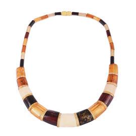 18 Inch Multi Colour Amber Collar Necklace 90 Ct