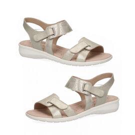CAPRICE Sandal Flat LT GOLD WAVES