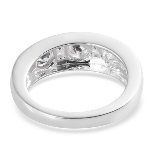 ELANZA Simulated Diamond (Rnd) Ring in Sterling Silver.