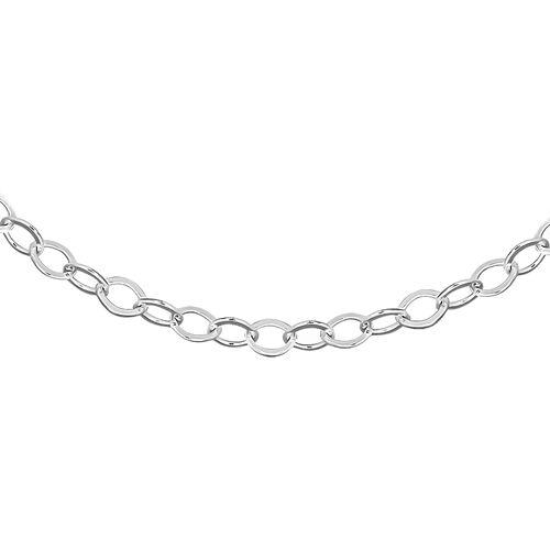 Diamond Cut Trace Chain in Sterling Silver 16 Inch