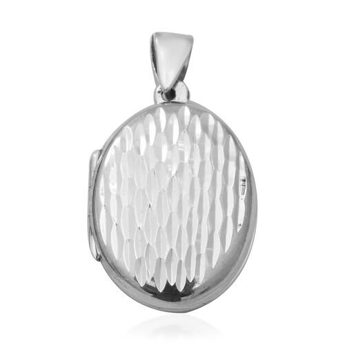 Diamond Cut Locket Pendant in Sterling Silver 6.30 Grams