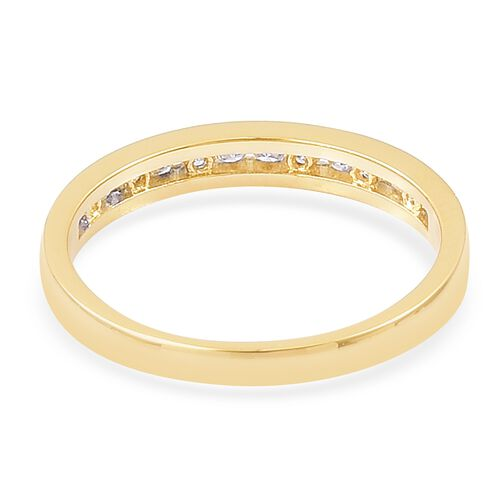 ILIANA 18K Yellow Gold IGI Certified Diamond (Rnd) (SI/G-H) Half Eternity Band Ring 0.250 Ct.