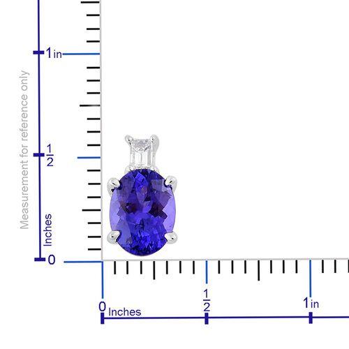 ILIANA 18K White Gold 1.65 Ct AAA Tanzanite Pendant with Diamond SI G-H
