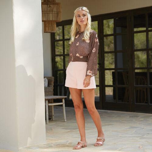 Lotus Pink & Diamante Josie Mule Sandals (Size 7)