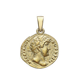 9K Yellow Gold Roman Coin Pendant