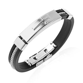 Mens Bangle in Stainless Steel 7 Inch