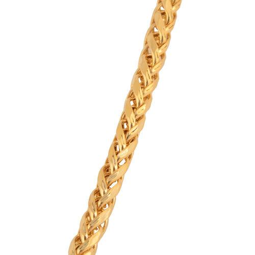 JCK Vegas Collection 22K Y Gold Spiga Necklace (Size 20), Gold wt 7.89 Gms.