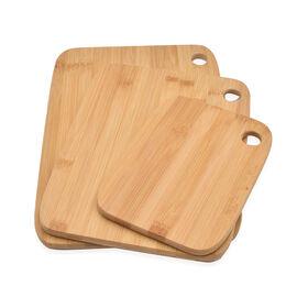 Set of 3 - Bamboo Chopping Board (Small:20x15cm, Medium:28x21cm, Large:33x23cm)