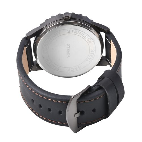 STRADA Japanese Movement Water Resistance Sporty Look Watch with Black Strap and Coffee Dial