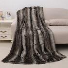 Faux Fur Blanket with Reverse Mink Blanket (Size 200x150 Cm)