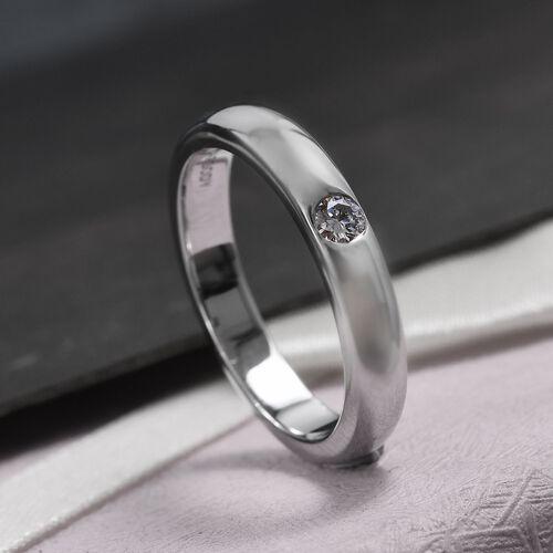 RHAPSODY Diamond Solitaire Band Ring in 950 Platinum IGI Certified 7 Grams VS EF