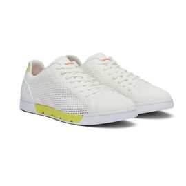 Swims Breeze Tennis Knit Men's Trainer in White and Limeade