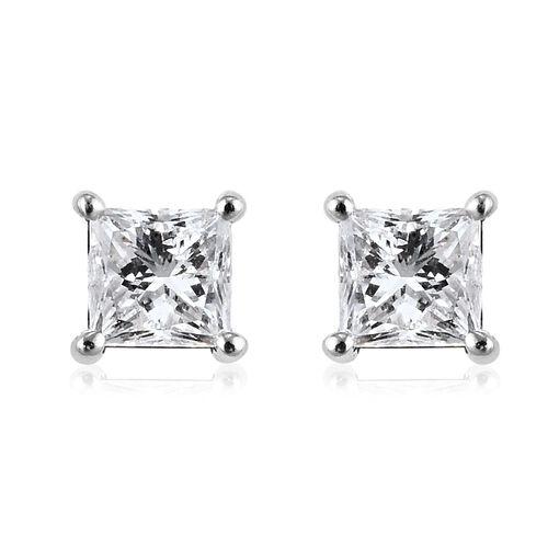 9K White Gold SGL Certified White Diamond (I1-I2/I-J) Solitaire Stud Earrings (with Push Back) 0.25