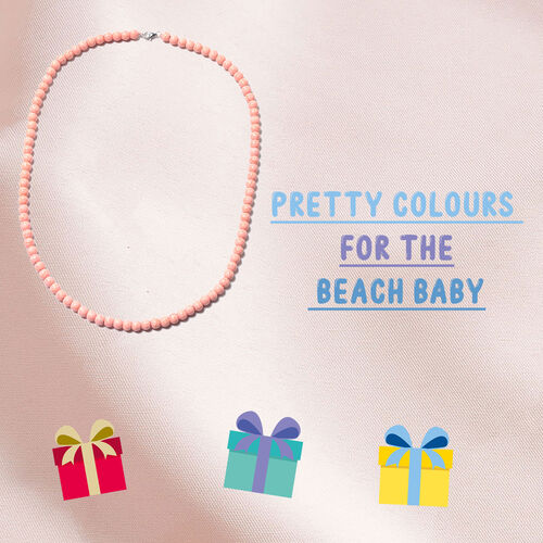 Pink Howlite Beads Necklace (Size 20) in Rhodium Overlay Sterling Silver with Lobster Lock 116.50 Ct.