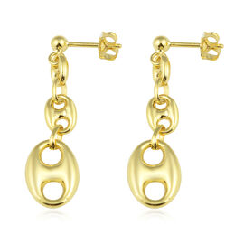 Hatton Garden Close Out-9K Yellow Gold Mariner Earrings (with Push Back), Gold wt 2.90 Gms