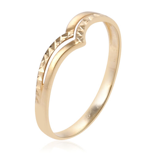Surabaya Gold Collection - 9K Yellow Gold Chevron Ring