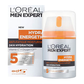 Loreal: Men Expert Anti-Fatigue Daily Moisturiser- 5 Actions To Fight Signs Of Fatigue - 50ML