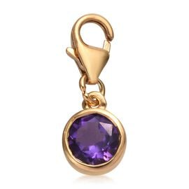 Amethyst (Rnd) Charm in 14K Gold Overlay Sterling Silver 0.75 Ct.