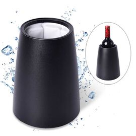 Black Wine Bottle Cooler (Size 15x15x21 Cm)