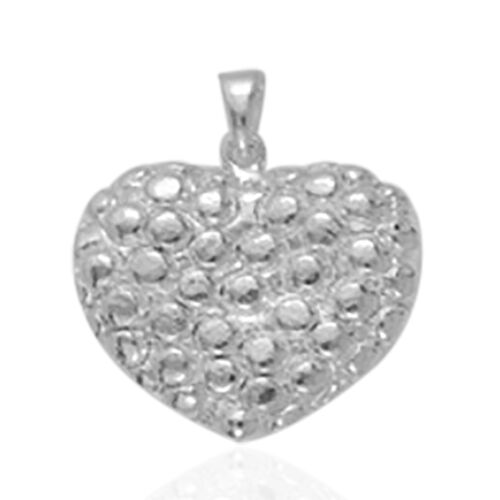 Vicenza Collection Sterling Silver Heart Pendant.