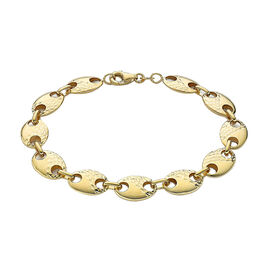 Hatton Garden- 9K Yellow Gold  Mariner Link Bracelet (Size - 7.25) with Lobster Clasp,  Gold Wt. 5.5