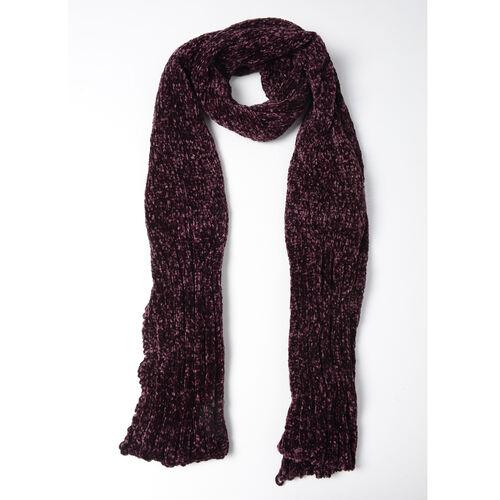Dark Purple Colour Scarf (Size 202x30 Cm)