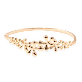LucyQ Splash Collection - Yellow Gold Overlay Sterling Silver Bangle (Size 7.5)