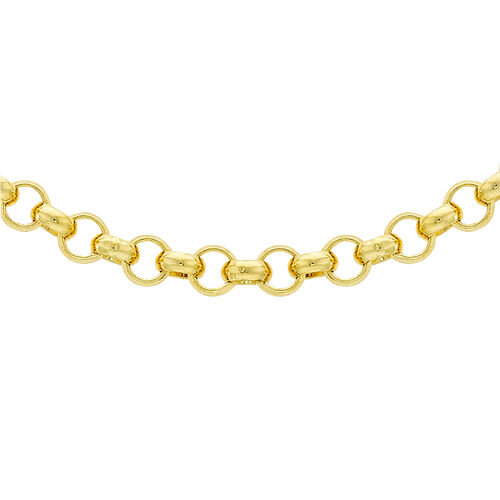 9K Yellow Gold Round Belcher Necklace (Size 18) with Lobster Clasp, Gold wt 17.50 Gms